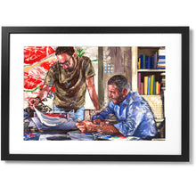 "Load image into Gallery viewer, Framed Sartorial Painting No.196 Michele Viggiano Print, 16"" X 24"""