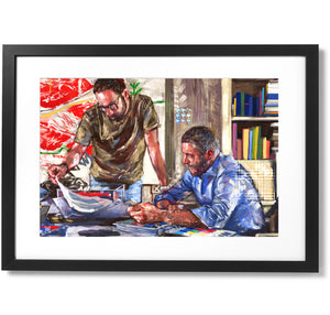 "Framed Sartorial Painting No.196 Michele Viggiano Print, 16"" X 24"""