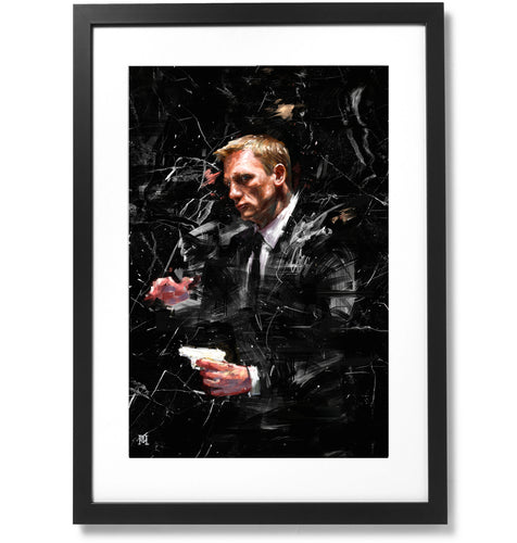 Framed Sartorial Painting 007 James Bond Collection - Daniel Craig No.01, 16