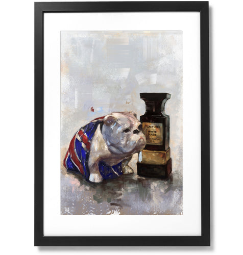 Framed Jack the Bulldog Print, 16