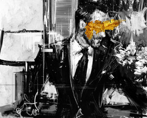 "Framed Sartorial Painting No.43 Tom Ford Print, 16"" X 24"""