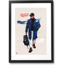 "Load image into Gallery viewer, Framed Sartorial Painting No.166 Antonio Metodo Print, 16"" X 24"""