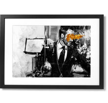 "Load image into Gallery viewer, Framed Sartorial Painting No.43 Tom Ford Print, 16"" X 24"""