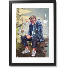 "Load image into Gallery viewer, Framed Sartorial Painting No.75 Unknown Gentleman Print, 16"" X 24"""