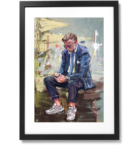 "Framed Sartorial Painting No.75 Unknown Gentleman Print, 16"" X 24"""