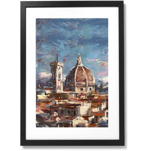 "Framed City Collection - Duomo di Firenze Print, 23"" X 35"""