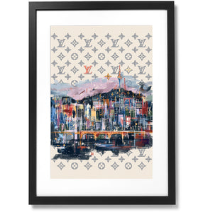 "Framed City Collection - No.04 SEOUL Print, 16"" X 24"""