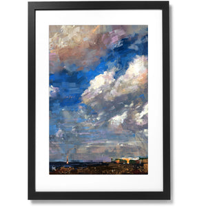 "Framed City collection No.06 Jeju Island Print, 16"" X 24"""
