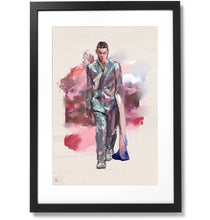 "Load image into Gallery viewer, Framed Dior homme 2020 Print, 16"" X 24"""