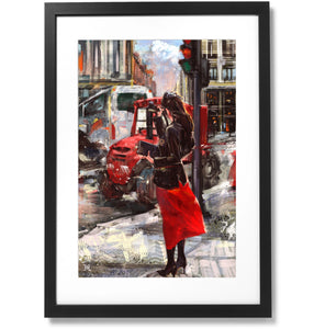 "Framed City Collection No.13 - Madrid x Mondkim Print, 16"" X 24"""
