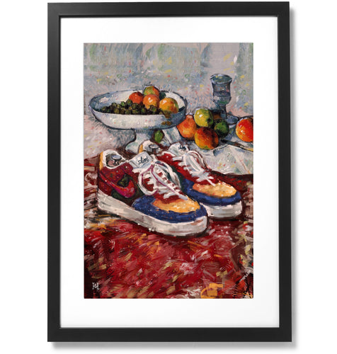 Framed Fashion still life painting No.01 Nike Air Force 1 Print, 16