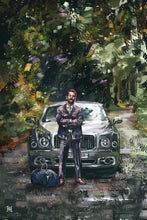 "Load image into Gallery viewer, Framed Sartorial Painting No.126 Matthew Zorpas Print, 16"" X 24"""