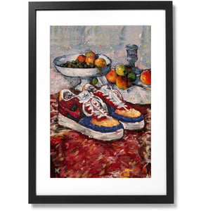 "Framed Fashion still life painting No.01 Nike Air Force 1 Print, 16"" X 24"""