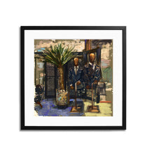 "Load image into Gallery viewer, Framed Tailor shop Print, 15"" X 15"""