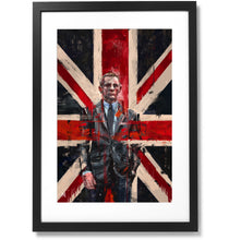"Load image into Gallery viewer, Framed Sartorial Painting 007 James Bond Collection - Daniel Craig No.02, 16"" X 24"""