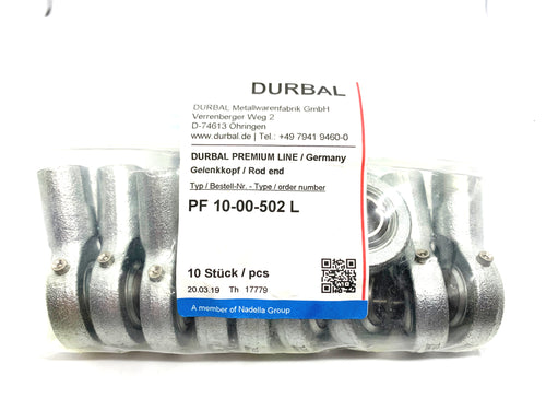 Durbal Rod Ends PF 10-00-502 L - ppdistributors