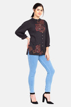 "Load image into Gallery viewer, Qaliy ""Ophelia"" Custom Embroidered Shirt"
