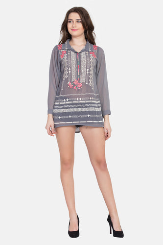 "Qaliy ""Rachael"" Embroidered Tunic"