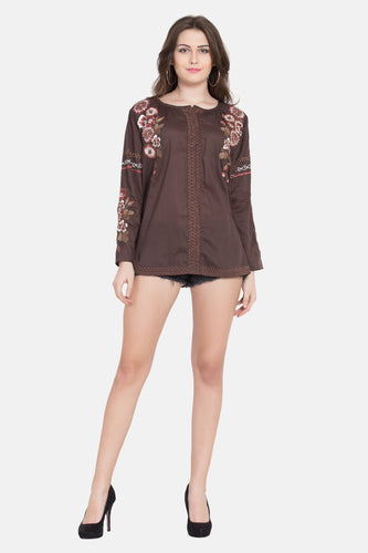 "Qaliy ""Kendra""Custom Embroidered Tunic /Shirt"