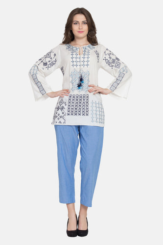 "Qaliy ""Fiona""Custom Embroidered Tunic"