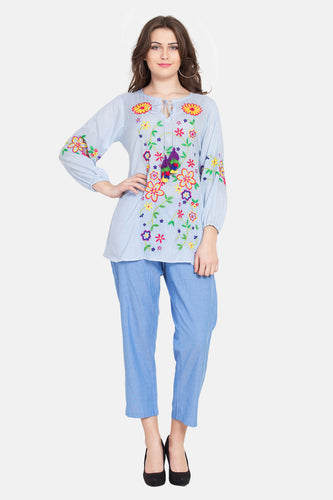 "Qaliy ""Valencia"" Embroidered Tunic"