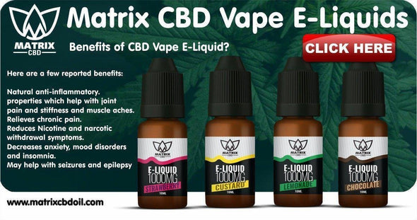 Buy CBD Vape E-Liquids UK-Matrix CBD Oil
