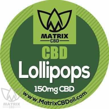 10 x 15mg Lemon fruit CBD Lollipops-Matrix CBD Oil