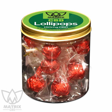 10 x 15mg Strawberry fruit CBD Lollipops