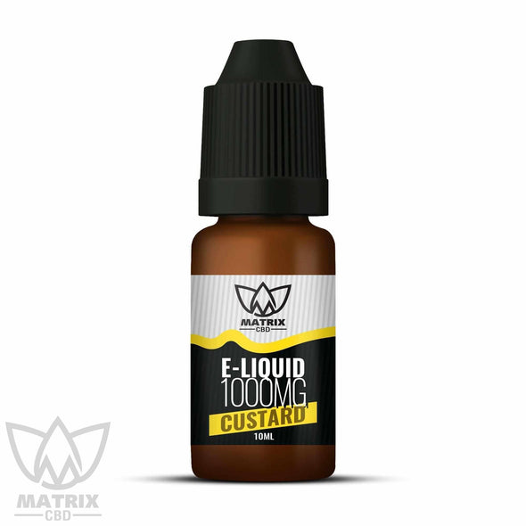 1,000mg - 10ml Matrix Custard Flavour CBD Vape E-Liquid-Matrix CBD Oil