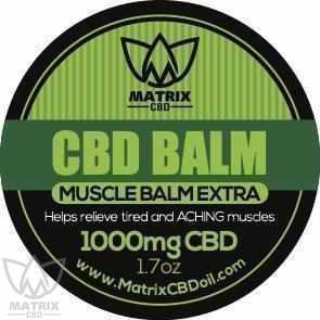 2 x 1,000mg Matrix CBD Balm Cream-Matrix CBD Oil