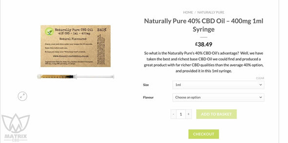 2 x 1ml Pure 90% Full Spectrum CBD Oil-Matrix CBD Oil