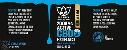 20ml - 20% Matrix CBD Oil 2,000mg