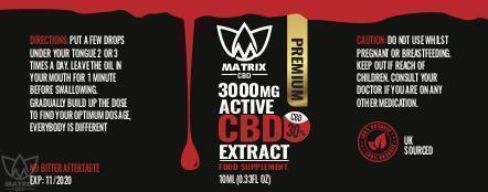 20ml - 30% Matrix CBD Oil 3,000mg