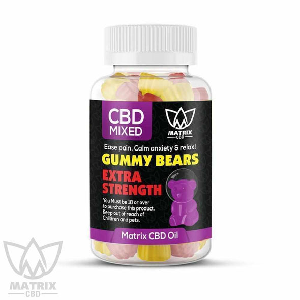 50 x Mixed Flavour 1,500mg CBD Gummy Bears-Matrix CBD Oil