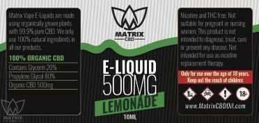 500mg - 10ml Matrix Lemonade CBD Vape E-Liquid-Matrix CBD Oil