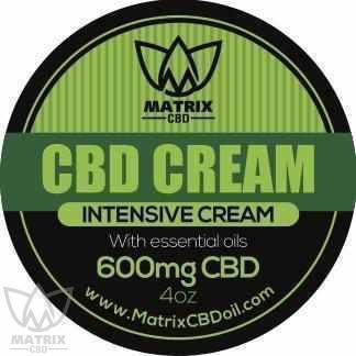 600mg 4oz Matrix CBD Moisturiser Cream (Body/Face)