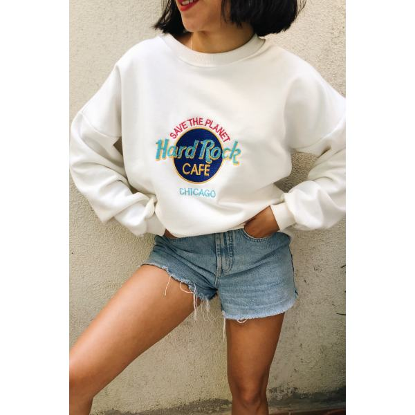 Ladies Fashion Casual Print Sweatshirt
