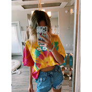 Short Sleeve Flower Tie Dye Tee