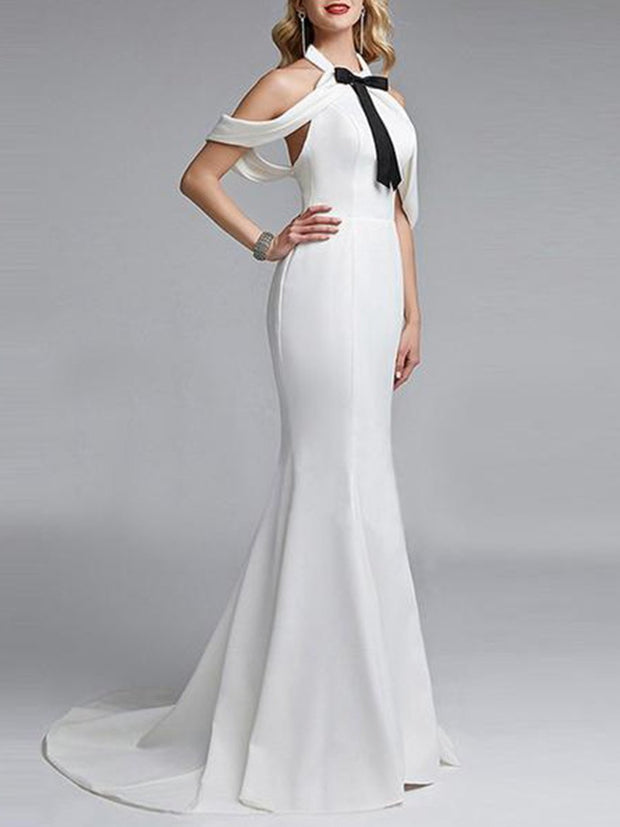 Sexy Off Shoulder Backless Maxi Dresses Evening Dress