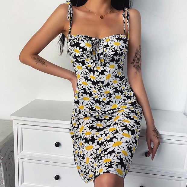 Women printed camisole dress