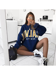 Womens Fashion Simple Casual Sweatshirt
