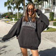 Womens Fashion Street Shot Letter Sweatshirt
