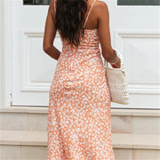 Printed Slim Fit Midi Dress