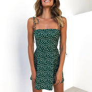 Summer Spaghetti Strap A-Line Slim Floral Mini   Vacation Dress