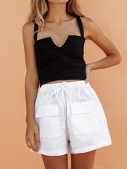 V-Neck Vest & Shorts Suit