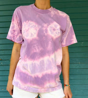 Purple Tie Dye Short Sleeve Tee