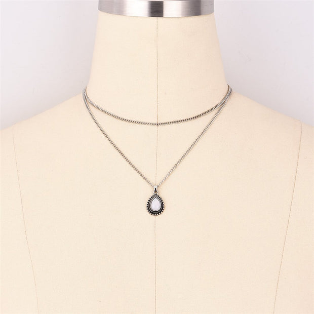 Fashion vintage dripping stone necklace