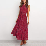 Lace Dot Loose Midi Dress