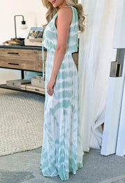 Women's tie dye maxi dress