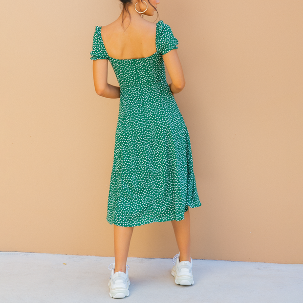 Off Shoulder Sexy Print Midi Dress